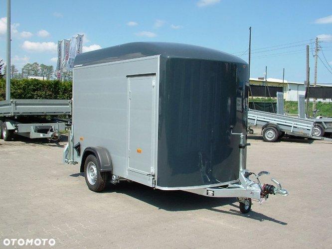 Przyczepa zabudowana aluminiowa poliestrowa kontener furgon cargo Cheval Liberte Debon
