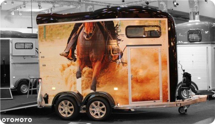 Przyczepa do przewozu koni Gold Touring z przednią rampą Przyczepa Aluminiowa