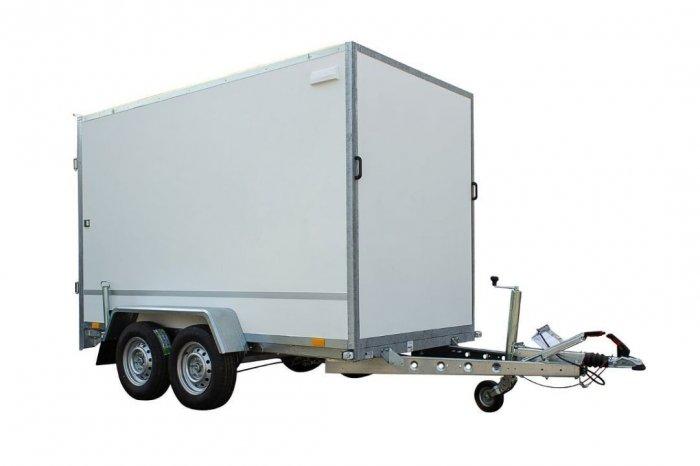 TEMARED Przyczepa Kontener Furgon BOX 3015/2C dwuosiowy hamowany DMC 2000kg