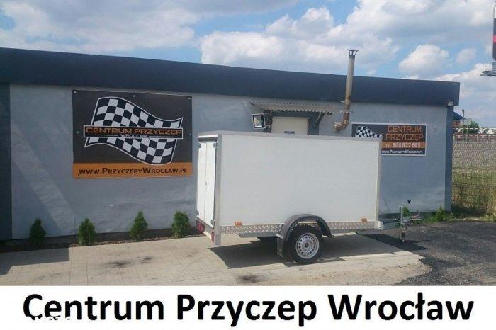 PRZYCZEPA TYPU FURGON / KONTENER / 2,55 m x 1,3 m x 1,40 m / DMC 750kg /