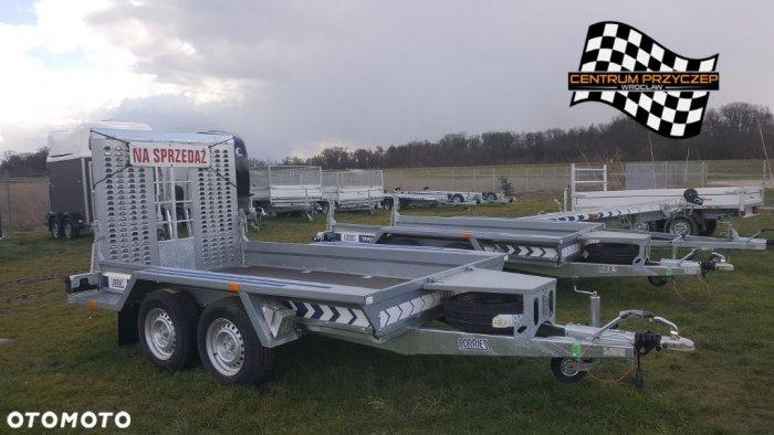 Lorries OD RĘKI! PRZYCZEPA DO TRANSPORTU MASZYN / KOPARKI - LORRIES / DMC 2700kg / 1.6m x 3.13m