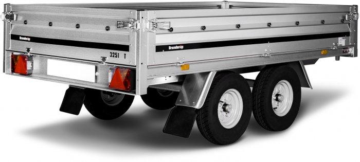 Przyczepa otwarta podwyższona Brenderup 3251 ST 250x142x35 750 kg