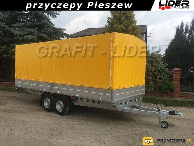 RD-037 przyczepa + plandeka 450x195x170cm, EURO B-2600/1/K5, ciężarowa, towarowa, DMC 2600kg