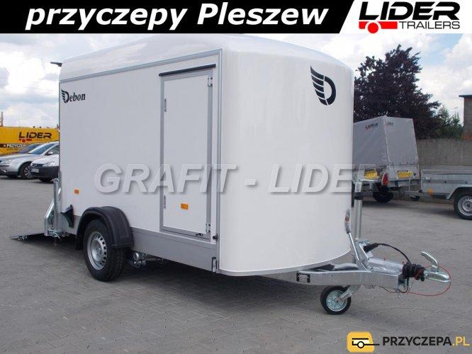 DB-022 przyczepa Fourgon C300 SANDWICH, bagażowa, do motocykli, quadów, 300x150x190cm, izolowana, DMC 1300kg