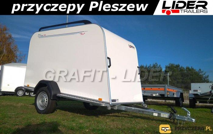 TP-040 przyczepa 253x110x125cm Mini Cargo TF4s Plus, furgon izolowany, kontener, DMC 750kg